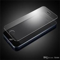 Iphone vidrio de alta calidad España-La alta calidad de cristal templado protector de la pantalla a prueba de explosión 2.5D para Samsung Galaxy Note 2 3 4 5 S7 S6 S4 S5 Iphone 6 6S Plus 5C 5 5S 4 4S