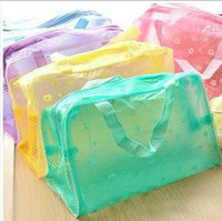 Wholesale Travel must transparent waterproof cosmetic bag wash bag wash bath toiletries pouch large capacity colors