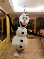 Cheap Hot sale Fashion 2nd Version Frozen Olaf Snowman Mascot Costume for Adult Fancy Dress Costume EMS Free Shipping