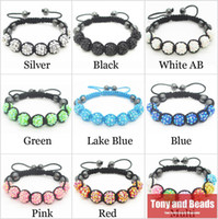 Wholesale Mix Colors Shamballa Bracelet With Resin Material Shamballa Balls Colors For Choose RB1