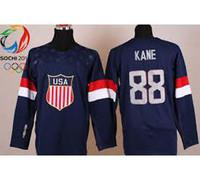 Cheap Wholesale Men's 2014 Winter Olympic Team USA 88# kane Hockey Jersey # Blank Dark Blue Jerseys,mix order