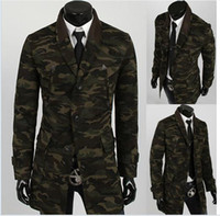 Wholesale Fashion hot New Korean Camouflage knitted collar stitching Dust coat Casual jacket Men s clothes Fashion High quality Winter