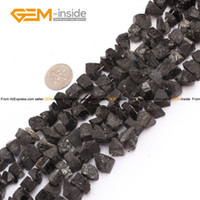 "Cheap Tourmaline Beads 10-12mm Freeform Crude Black Natural Stone Beads For Jewelry Making Diy Bracelet Strand 15"" Free Shipping"