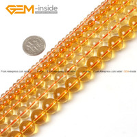 Cheap Citrine Beads Round Yellow Selectable Size,Natural Stone Beads For Jewelry Making Diy Bracelet Free Shipping 6 9 10 11mm