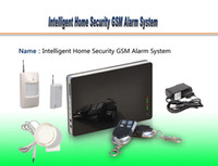 Wholesale Intelligent Home Security GSM Alarm System Remote Controller PIR Motion Detector Door Window Magnetic Sensor Mini Siren iPhone Android F3016
