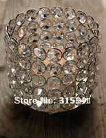 Wholesale 10cm by cm high Retail of crystal votive candle holder