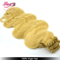 Cheap Brazilian virgin body wave , 613# color , blonde human hair extension free shipping. 100g piece,2pcs lot