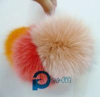 Wholesale Real Fox fur pom ball D11cm soft fox fur ball charm fur pom per with price mixed colors