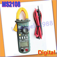 Cheap NEW MS2108 Digital Clamp Meter True-RMS AC DC Current 6600 Compared w FLUKE+free shipping