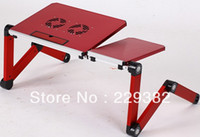 Cheap Metal folding computer desk laptop table Black red blue yellow for choose sofa and bed and office stand office stand table