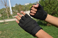 Wholesale Military Airsoft Gloves Tactical Cycling Bicycle Fingerless Sports Gloves For Gym GY134 Micro Fiber