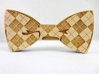 Wholesale Min Order Fashion Good Wood Jewlry Bow Wooden Hip Hop Tie Clips