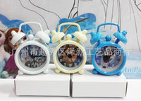 Wholesale 150pcs DHL EMS elsa Clock Cartoon metal alarm clock Mini alarm clock small alarm clock Snow treasure BB alarm freeshipping