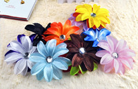 Wholesale 13 Types Lady Crystal Tropical Lily Hairwears Flower Floral Head Clip Kids Girl Hair Accessories Baby Headwear Gift