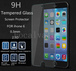 Wholesale iPhone Plus Tempered Glass Screen Protector Film m D H Anti Fingerprint Scrach Explosion Shatter Proof iPhone6 Plus Guard Free DHL