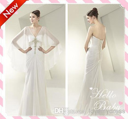 Wholesale 2014 Unique Style Sweetheart With Beading Pleated Sheath Wedding Dresses With Sheer Sexy Tulle Long Sleeves Stole Bride Dress Gowns HOT