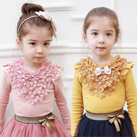 Wholesale 2014 Autumn Korean version of the new children s clothing baby plum female children bottoming shirt long sleeve T shirt tx
