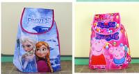 Wholesale 2014 Peppa pig Frozen children cartoon backpack non woven multifunctional shoulder bag girls school bag