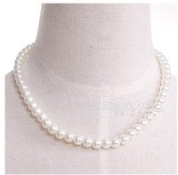 Wholesale Dancing water Exaggerated super imitation pearl necklace han edition fashion female brief paragraph clavicle necklace bridal jewelry accesso