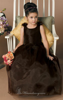 Wholesale Black Little Girl Cupcake Pageant Dresses New Arrival Jewel Neck with Bow Sash Floor Length Formal Sweet Girl Glitz Ball Gowns WWW