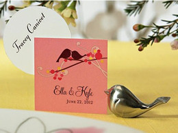 Wholesale 2015 New Love Bird Card Holders with Cards Wedding Card Holder Romantic Love Bird favor Wedding Table Decoration Card Holder Sale