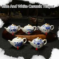 porcelain teapot white - 270ml Elegant Chinese Blue And White Ceramic Teapot Porcelain Kungfu Tea Set Drinkware