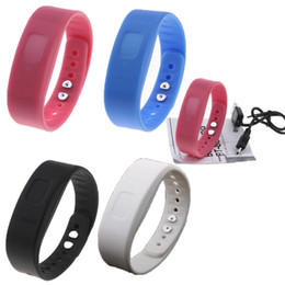 Wholesale Bluetooth Incoming Call Vibrate Alert Alarm Anti lost Band Bracelet Device for cell phones COLORS PA1263