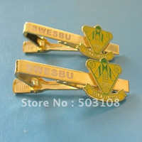 Wholesale fashion tie clips metal plated Stamped Polished Colour fill Epoxy LOW PRICE