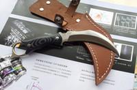 fixed blade knives - United Hibben Claw karambit C HRC Fixed blade claw knife knives with leather sheath