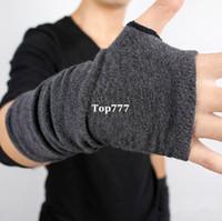 Wholesale Men s Winter Autumn Knitted Thicken Warm Glove Fashion Wool Fingerless Long Short Thicken Gloves Mittens For Women Men