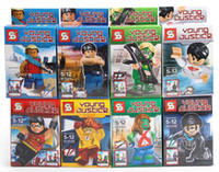 4set 1lot Young Justice Minifigures Building Blocks Sets Min...
