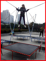Wholesale New Children Bungee Bungy Trampoline Amusement Ride Free Shipped by Sea