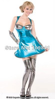 Cheap Free shipping!! Galaxy Girl Costume latex sexy women fantasia underwear Cosplay Wear,Adult Costumes ,Halloween 7186