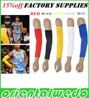 Wholesale Basketball armguards lengthen elbow nylon armguards lengthen ride sunscreen hiking sports protection armfuls hight quality off dorp ship