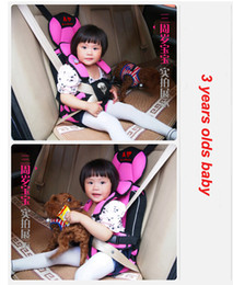 Wholesale 2015 HOT Adjustable Portable Baby Child Car Safety Seat Cushion Braces Belt Harness Pink blue