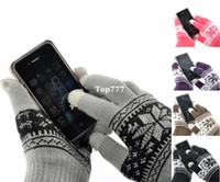 Wholesale 1Pair Touch Screen Gloves Snow Flower Smartphone Tablet quot x4 quot M0423