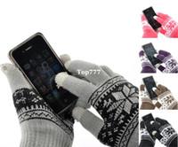 Wholesale 1Pair Touch Screen Gloves Snow Flower Smartphone Tablet quot x4 quot M0423