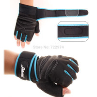 Wholesale Hot Anti skid Half Mitt Fitness Gloves Wrist Wrap Weightlifting Workout Multifunction Exercise Training Gym Gloves