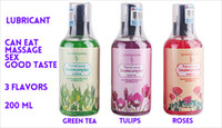 massage oil sex - Good Can Eat Taste Green Tea Rose Tulips Water Soluble Lubricant ml Sex Oral Massage Body Lube Oil Sex Products Lubricant