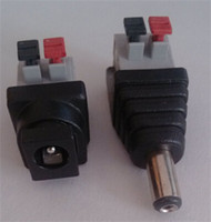 Wholesale x mm male plug female adapter with screwless push button pin Crimp cable Terminals for CCTV Power Chargers