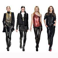 Faux Leather Mid Fashion 2014 Faux Leather Leggings Fashion Womens Leggings Winter Fleece Leggings High quality Wet Look Leggings