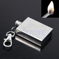 Wholesale Cigar Match Flint Fire Torch Petrol Permanent Metal Lighter With Key Chain Ring