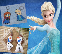 Wholesale 9 off in stock Cartoon FORZEN Elsa Anna olaf keychain About cm Double sided keychain Pendant drop shipping hot sale on sale MC