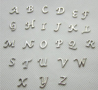 Wholesale Metal Silver Tone Letter Alphabet Floating Charms for Living Memory Lockets