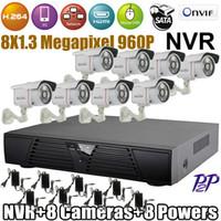 Wholesale Sale CCTV System NVR CH HD P NVR Kit waterproof IP Camera with IR Night Vision cctv kit