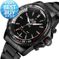 Cheap Watches men stainless steel watches Clock relogio 3ATM LED display calendar Janpan movement Analog Unique Design wristwatches