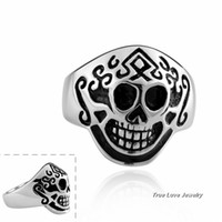 Wholesale High quality L stainless steel skull rings for men punk style jewelry personalized Christmas gift