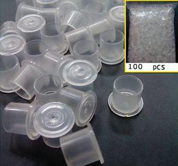 100 PCS Small Medium Large Tattoo Ink Cups Caps Tattoo Pigment Cups Plastic Tattoo Inks Cups Tattoo Supplies Tattoo Inks