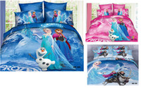 Wholesale Hot selling D Frozen Bedding set Twin Full Queen size Cotton Children Bed Linen for Girls Boys Kids Single double Bed