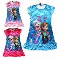 Wholesale Frozen Clothing Cotton Lingerie Pajamas Dress Christmas gift A556